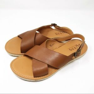 KORK-EASE | Brown Slingback Sandals